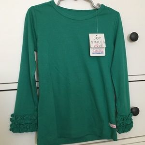 Girls Ruffle Butts long sleeve top size 4T NWT